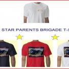 Gold Star Parents Brigade T-shirt Size S Navy
