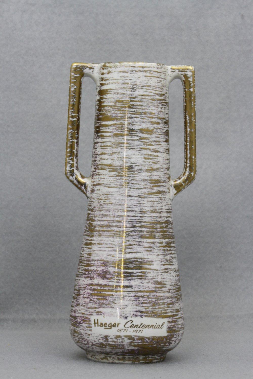 Haeger Centennial Vase 1001 Vintage Gold