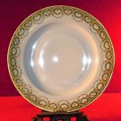 Haviland Plate Heart  Green Pink  Gold