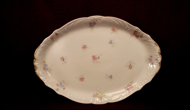 Haviland China Platter Floral Pattern Colorful