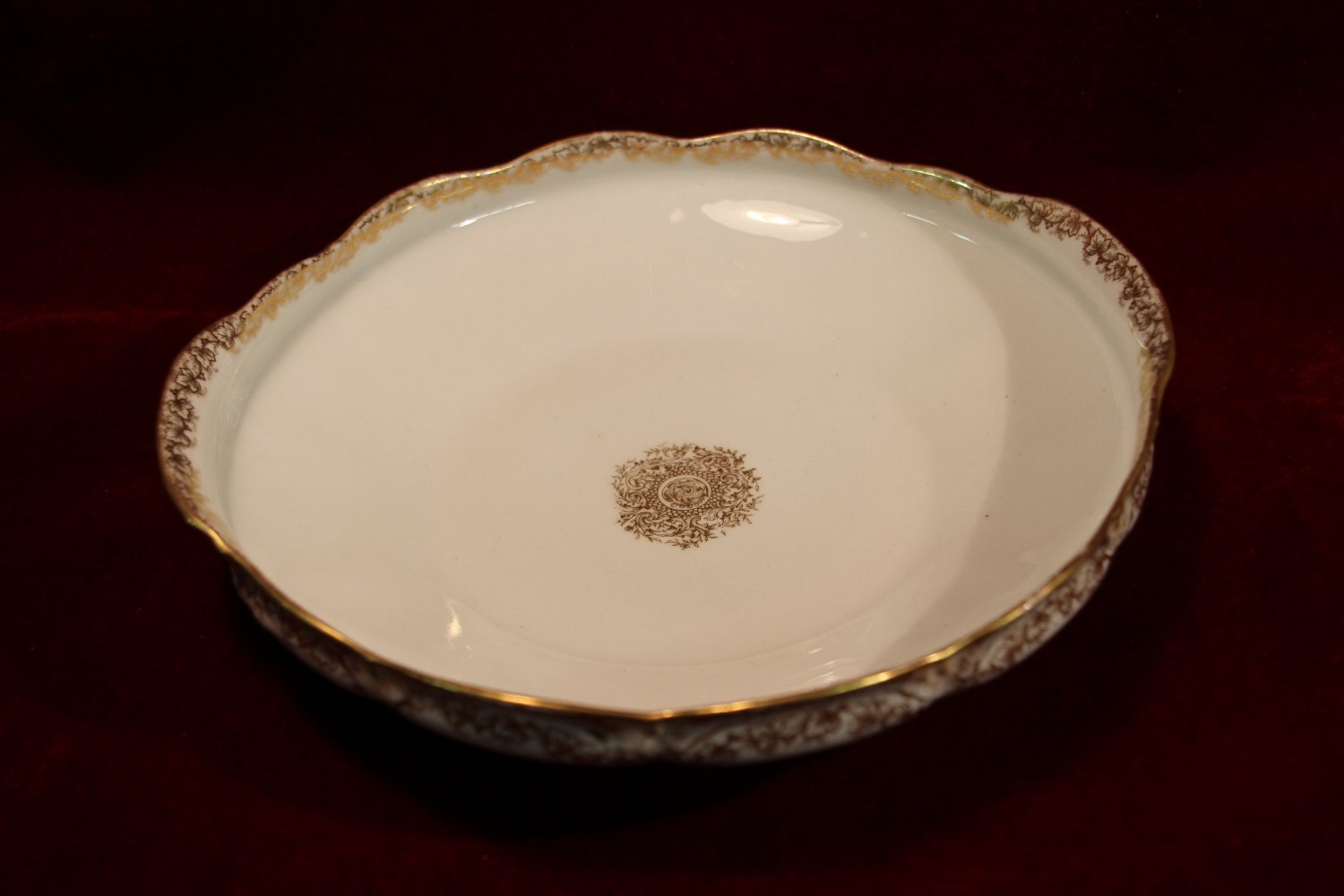 Haviland China Dish 1895 White Gold