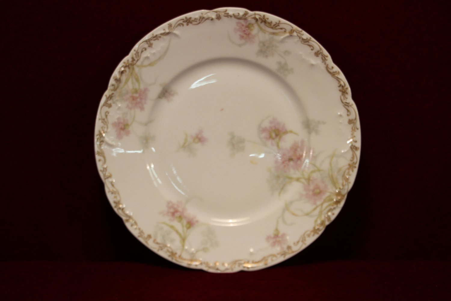 antique haviland limoges plate floral 1893. Black Bedroom Furniture Sets. Home Design Ideas