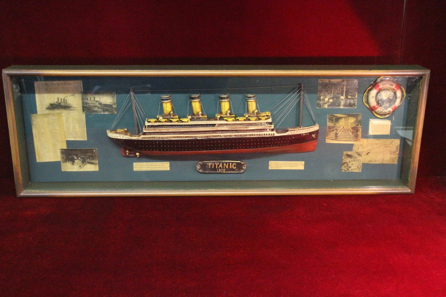 Off Market Titanic Collectible Shadow Box Full Size