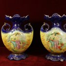 Antique Victoria Ware  Vases Pair Lovely maidens