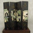 Oriental Panels Asian Theme Applied Art  Work Black