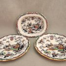 Ashworth Brothers  Hanley Asian Colored Willow Plates and Bowl Antique