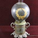 Antique Banquet Lamp Laurel Wreath Gold Copper and Cast Unique