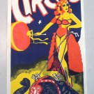 Franzen Brothers Circus Vintage Poster Woman Riding Elephant Clown