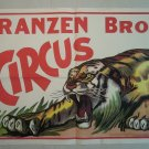 Franzen Brothers Circus Vintage Poster  Crouching Tiger on Mound 2