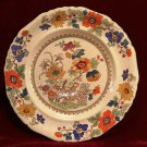 Antique Masons China Plate  Bible Floral  1895- 1930
