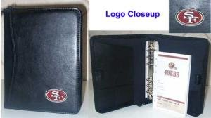 San Francisco 49ers Leather Embroidered Black Organizer