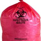 """Biohazard Bags LD Red Infectious Waste Liners 1.5 Mil Thick 30"""" x 36"""" 80 Per Case"""