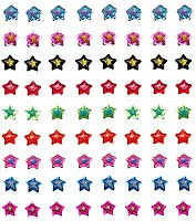 36 Pairs Of Emo Star Earrings PUNK RoCK EMO LOLITA SCENE
