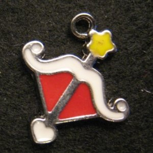 Sagittarius Pendant (Red/White)
