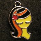 Virgo Pendant (Black/Orange)