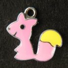 Squirrel Pendant (Pink/Yellow)