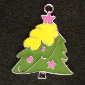 ChristmasTree Pendant (L) (Yellow/Purple)