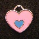 Double Heart Pendant (Pink / Light blue)
