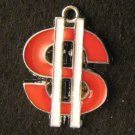 Dollar Sign Pendant (Red)