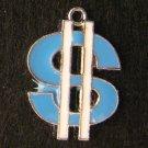 Dollar Sign Pendant (Blue)
