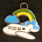 Airplane Pendant (Green/Yellow)