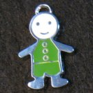 Little Friend Icon Pendant (Green/White)
