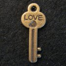 Love Key Pendant (Antique Bronze)
