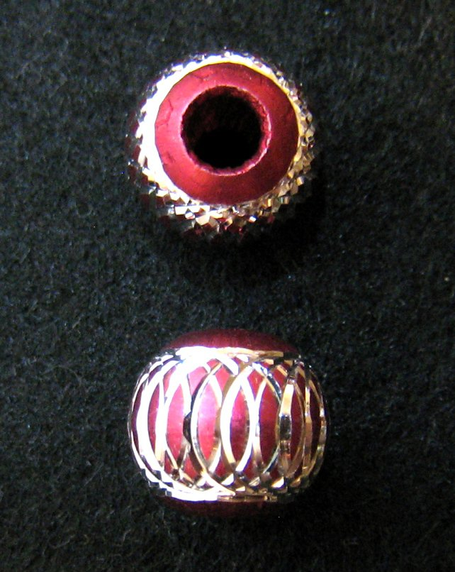 Shiny bead (03) (Deep Pink) (2pcs)