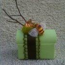 Green Treasure box with Bee