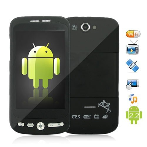 Android 2.2 OS 3.5 Inch Touchscreen Dual SIM Cellphone Support GPS and WiFi