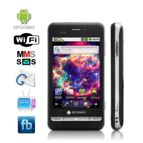 Dual SIM Android 2.2 3.5'' Capacitive Touchscreen Smartphone Support WiFi + GPS
