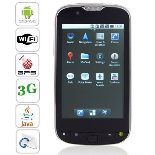 3G 3.8'' 800 x 480 Capacitive Multi-touch Screen Android 2.2 GPS Cellphone