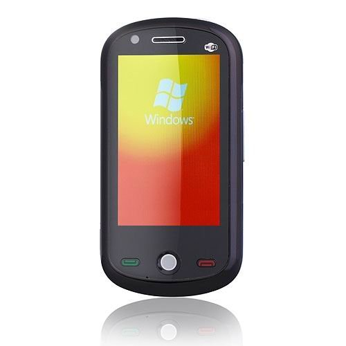 Quad Band Touch Screen Windows Mobile Cell Phone - WiFi + JAVA + Trackball