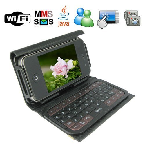 2.8 Inch HVGA Touch Screen WiFi TV T8000 Cellphone + External Qwerty Keyboard