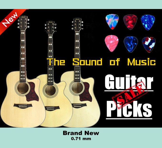 100 pcs New medium 0.71 mm guitar picks Celluloid