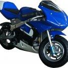 MotoTec Gas Pocket Bike - Blue- MT-GP