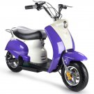 MotoTec 24v Electric Moped Purple- MT-EM