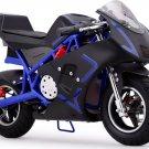 MotoTec Cali 36v Electric Pocket Bike - Blue - Battery Powered - MT-EP-Cali_Blue