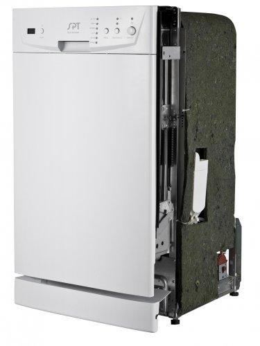 "Sunpentown Energy Star 18"" Built-In Dishwasher - White- SD-9252W"