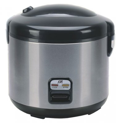 Sunpentown 6 Cups Rice Cooker with Stainless Body - SC-1202SS