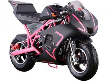 MotoTec Cali 40cc Gas Pocket Bike - Pink - MT-GP-Cali_Pink
