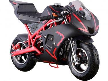 MotoTec Cali 40cc Gas Pocket Bike - Red - MT-GP-Cali_Red