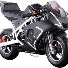MotoTec Cali 40cc Gas Pocket Bike - White - MT-GP-Cali_White