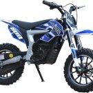 MotoTec 36v Electric Dirt Bike 500w Lithium Blue - MT-Dirt-Lithium