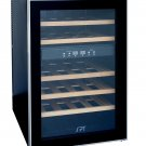 Sunpentown 24 Bottle Dual-Zone Thermo-Electric Wine Cooler with Wooden Shelves - WC-2463W