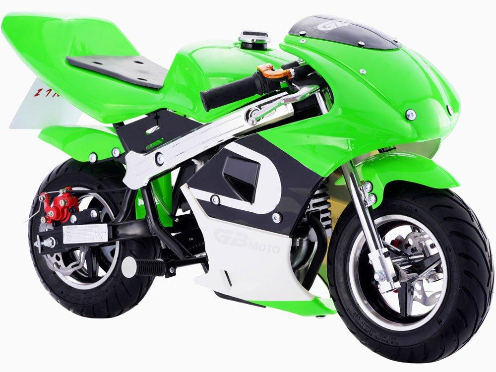 MotoTec GBmoto 40cc 4 Stroke Gas Pocket Bike - Green - MT-GP-GBmoto - NO CA SALES