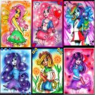 6 MY LITTLE PONY Art Poster Prints by Bianca Thompson-PINKIE PIE FLUTTERSHY