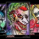 Asylum JOKER HARLEY QUINN BATMAN 3 Poster Print Set Signed by Bianca Thompson