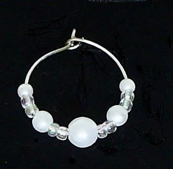 Large Lot Pearl Wine Glass Charm with Silverplated Ring Set of 100