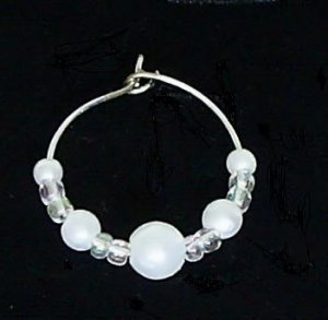Large Lot Pearl Wine Glass Charm with Silverplated Ring Set of 50